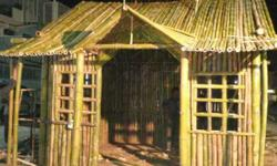 Brown And Green Bamboo Booth