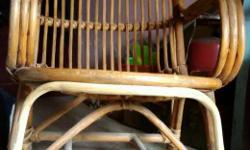Brown cane chair