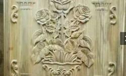 Brown Ceramic Floral Embossed Wall Decor
