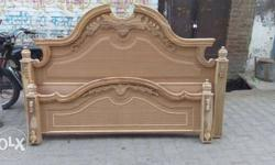 Brown Wooden Bed And Headboards