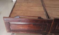 Brown Wooden Bed. Two single can be used as double as