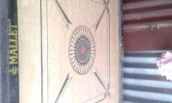 Brown Wooden Carrom Board