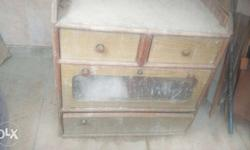 Brown Wooden Drawer