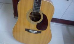 Brown Wooden Dreadnought Acoustic Guitar