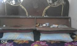 Brown Wooden Headboard with matters. call me.it has
