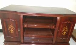 Brown Wooden Media Console