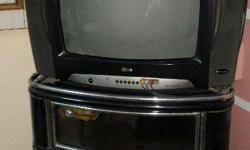 1.LG Tv is In Perfect Working Condition With 21