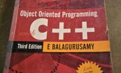 C++ by E-Balagurusamy in excellent condition.