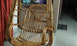 Cane swing chair very good condition selling as moving