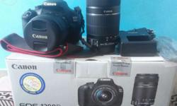 Canon EOS 1200D Dual Kit (EF S18-55 IS II & EF S55-250