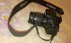 Canon 600D camera - good condition Lens 18-55mm 4GB