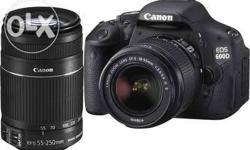 Canon 600d with 18 55 and 55 250 lens