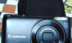 Canon Camera with battery, 4 GB card and Carry case. No