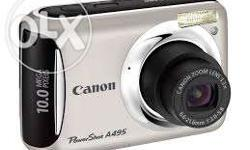 Model: Canon Powershot A495, 10 Megapixel with Cover