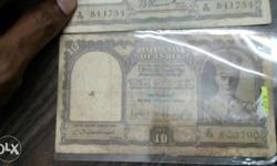 CD deshmukh signed ten rupee british India currency and