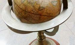 12 inches toughened brass celestial globe. in perfect