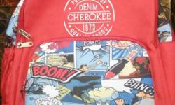 cherokee denim branded bag not used