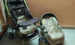 Child travel system. Includes stroller, carry cot and