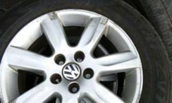 Chrome Volkswagen 7 Spoke Car Wheel With Tire