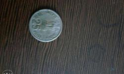 coin of 25 paisa having IX Asian games logo in the back