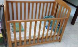 1) Mothercare baby cot along with Mothercare mattress