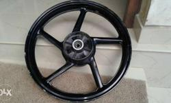 "Yamaha 17"" 100, 90company black alloy wheel"