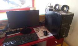 Complete PC with 6 month used samsung LCD monitor only