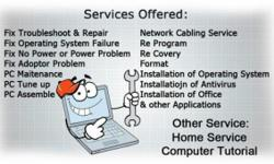 We provide Computer service like pc repair,Data back up