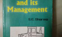 Construction Equipment And Its Management Book