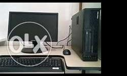 Core 2 duo desktop systems/2 gb ram/ 250 gb Hdd 17 size