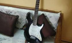 Black And White Stratocaster Guitar