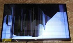 Cracked Screen LG Flat Screen Television