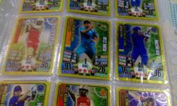 cricket attax more than 250.cards many golds and lots