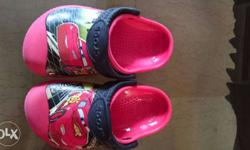 Pink And Black Lightning Mcqueen Crocs Clog Sandals New