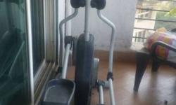 Cross trainer in fitness