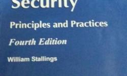 Cryptography and Network Security Book for 250 only