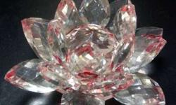 3.5 inch Diameter & 2 inch Height - Crystal Lotus in