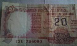 A Rs 20. Indian note having the most holyserialnumber