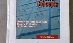 Database System Concepts book. In very good condition.