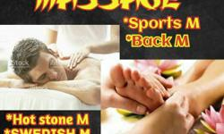 Deep tissue massage home serive gym service hotel