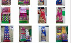 designer fancy stylish embroidey work suits cotton PC