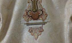 Brown And White Textile