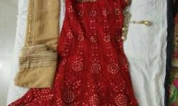 Designer party wear Gajiwala lacha (one time used)