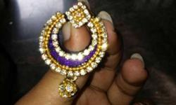 Diamond Encrusted Gold Earring