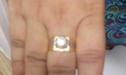 Natural diamond ring wt 12,70 carat gold wt 6gm
