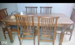 Dining table and 6 chair set Teakwood Excellent