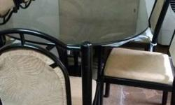 dining table set of 6 chairs. table and chairs are made