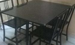 The resturant dinning table and chair made of steel and