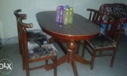 dinning table with 4 chairs ,4yrs old in very good