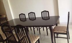 Excellent condition dinning table with 8 chairs